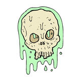 comic cartoon slimy skull Royalty Free Stock Images