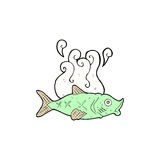 Comic cartoon smelly fish Royalty Free Stock Images