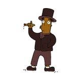 Comic cartoon smoking gentleman Royalty Free Stock Photo