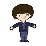 Comic cartoon smug boy. Retro comic book style cartoon smug boy Royalty Free Stock Photo