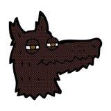 Comic cartoon smug wolf face Royalty Free Stock Images