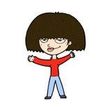 Comic cartoon smug woman Stock Images
