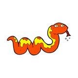 Comic cartoon snake Royalty Free Stock Image