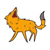 Comic cartoon snapping fox Royalty Free Stock Photo