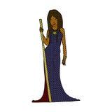 Comic cartoon sorceress Royalty Free Stock Image