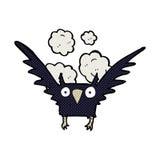 Comic cartoon spooky bird Stock Photos