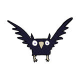 Comic cartoon spooky bird. Retro comic book style cartoon spooky bird Royalty Free Stock Image