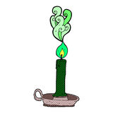 Comic cartoon spooky candle Royalty Free Stock Photography