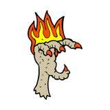 Comic cartoon spooky claw Royalty Free Stock Image