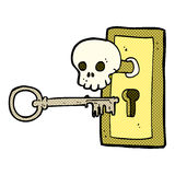 comic cartoon spooky door knob Stock Photography