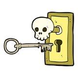 comic cartoon spooky door knob Stock Photography