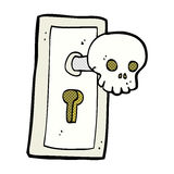 comic cartoon spooky door knob Stock Images