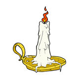 Comic cartoon spooky dribbling candle Stock Image