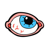 comic cartoon spooky eye Stock Images