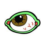 Comic cartoon spooky eye Royalty Free Stock Image