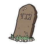 comic cartoon spooky grave Royalty Free Stock Image
