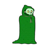 Comic cartoon spooky halloween costume Royalty Free Stock Photos