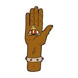comic cartoon spooky hand symbol Stock Photo