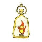 Comic cartoon spooky lantern Royalty Free Stock Photos