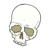 Comic cartoon spooky old skull Stock Images