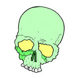 Comic cartoon spooky old skull Stock Photo