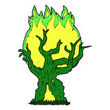 comic cartoon spooky old tree Royalty Free Stock Image