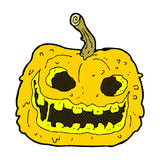 Comic cartoon spooky pumpkin Stock Photography