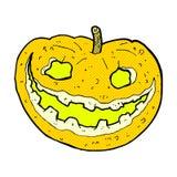 Comic cartoon spooky pumpkin Stock Photos