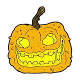 Comic cartoon spooky pumpkin Stock Image