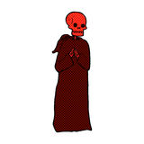 Comic cartoon spooky skeleton in robe Royalty Free Stock Images