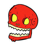 Comic cartoon spooky skull Stock Photos