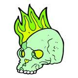 Comic cartoon spooky skull. Retro comic book style cartoon spooky skull Royalty Free Stock Photos