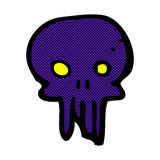 Comic cartoon spooky skull symbol Royalty Free Stock Photography