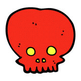 Comic cartoon spooky skull symbol Royalty Free Stock Image