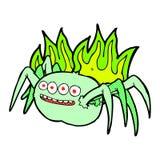 Comic cartoon spooky spider Royalty Free Stock Photos