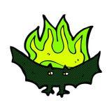 Comic cartoon spooky vampire bat Royalty Free Stock Photography
