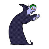 Comic cartoon spooky vampire Royalty Free Stock Image