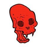 Comic cartoon spooky vampire skull Stock Photo