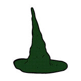 comic cartoon spooky witch hat Stock Images