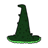 Comic cartoon spooky witch hat Stock Image