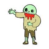 Comic cartoon spooky zombie Stock Image