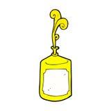 Comic cartoon squirting mustard bottle Stock Image