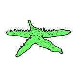 comic cartoon starfish Stock Image