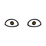 comic cartoon staring eyes Royalty Free Stock Photo