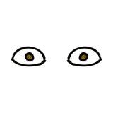 Comic cartoon staring eyes. Retro comic book style cartoon staring eyes Royalty Free Stock Photo