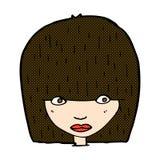 Comic cartoon staring woman Royalty Free Stock Image