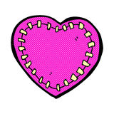 Comic cartoon stitched heart Royalty Free Stock Images