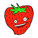 Comic cartoon strawberry Royalty Free Stock Images
