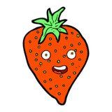 Comic cartoon strawberry Royalty Free Stock Photos