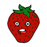 comic cartoon strawberry Royalty Free Stock Photography